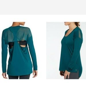 CALIA by Carrie Underwood Teal Mesh Back Top S